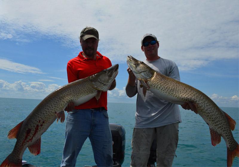 Fishing Harrison Township MI Musky Twins